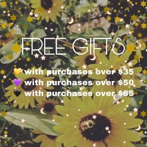 💛💜🖤 FREE GIFTS 🖤💜💛